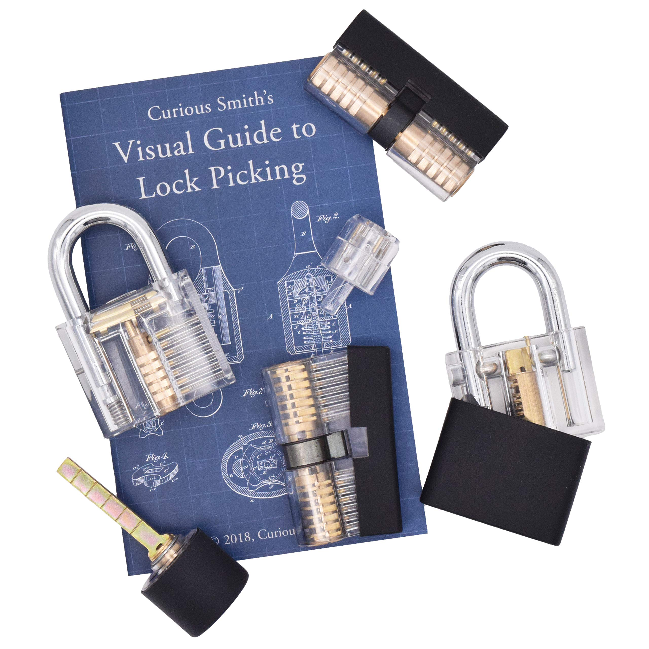 Set of 6 Unique Locks with See Through Housings by Tactical Hobbies