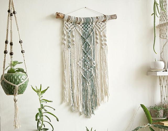 Amazon.com: Macrame Wall Hanging, Boho Wall tapestry, Modern Macrame ...