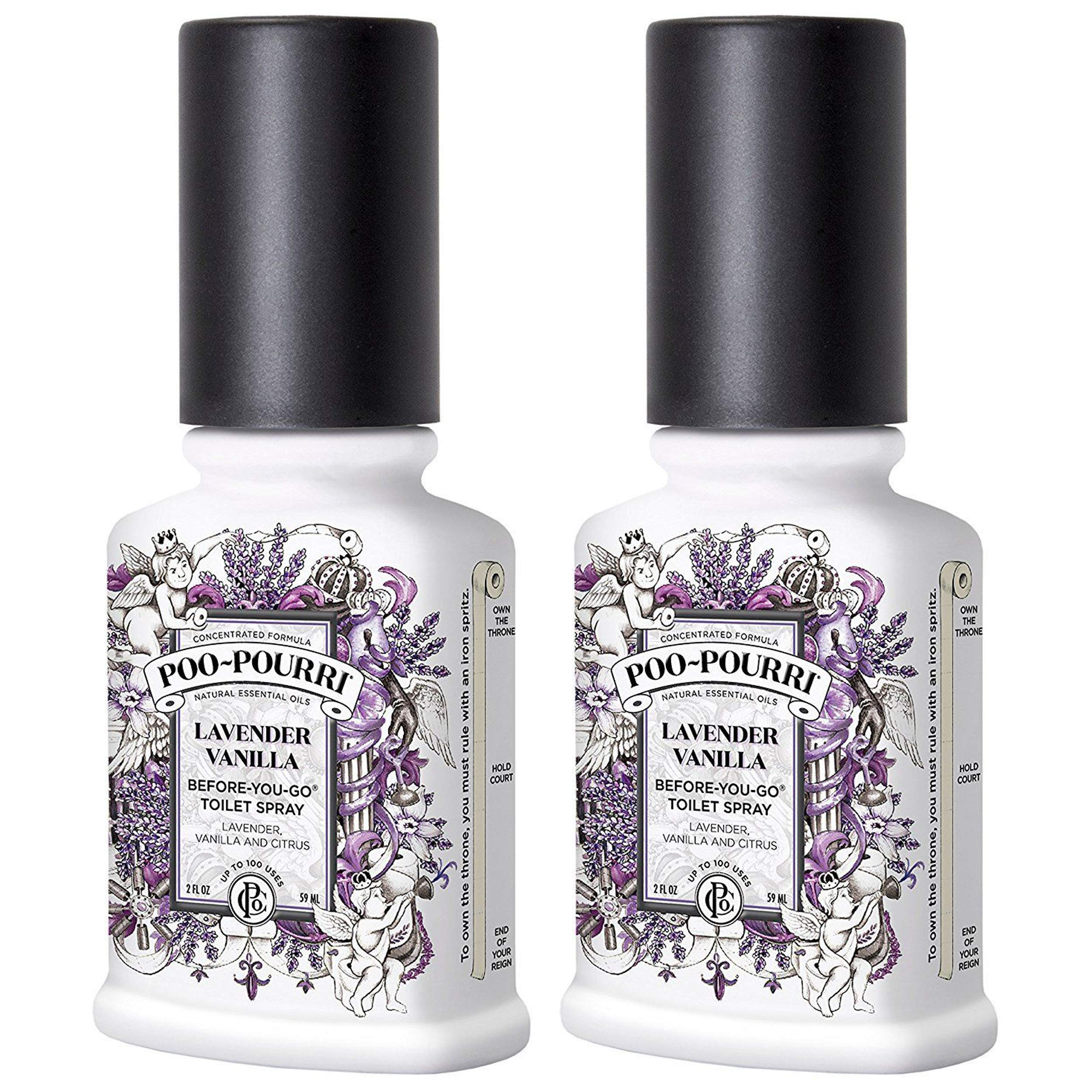 Poo-Pourri Before-You-Go Bathroom Spray, Lavender Vanilla - 2 Ounce, 2 Pack with Ornament Box   by Poo-Pourri (Image #1)