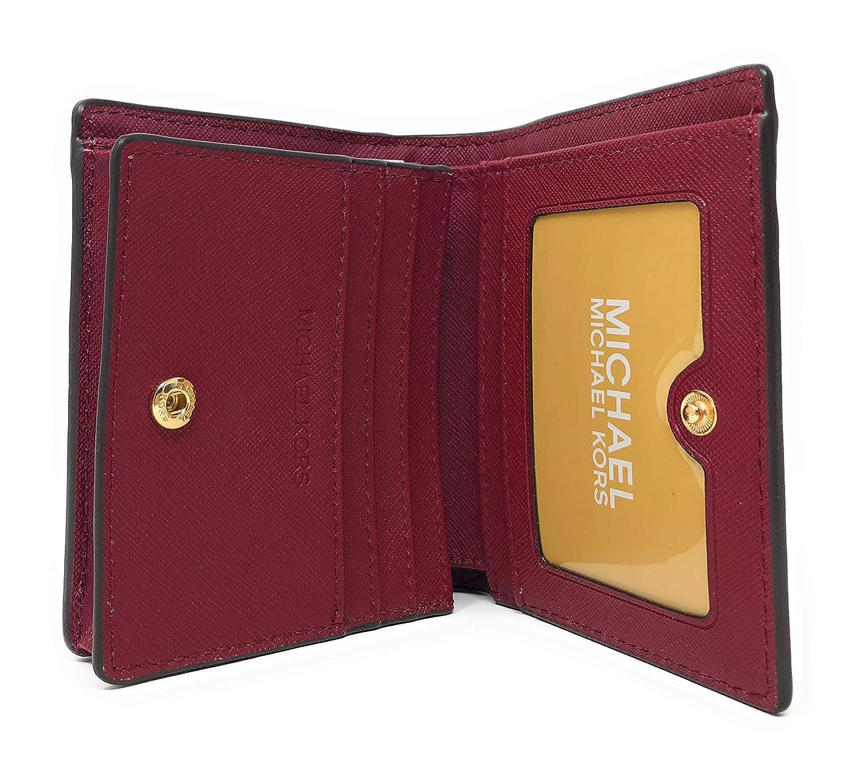 34697c85280e Amazon.com  Michael Kors Fulton Carryall Leather Card Case Wallet in Denim   Convergence Shop