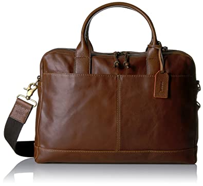 Amazon.com: Fossil Men's Wyatt Leather Workbag, Brown: Shoes