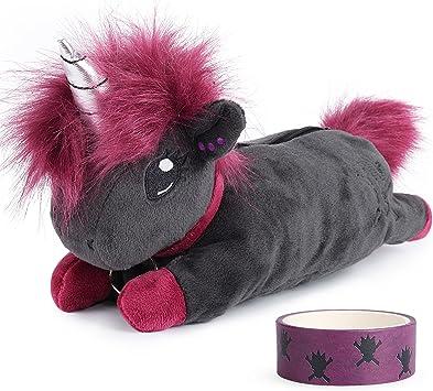 corimori Estuche Escolar (10+ modelos) Animales De Peluche Niños, color ruby el unicornio-punk (rosa-negro) (1845-001): Amazon.es: Juguetes y juegos