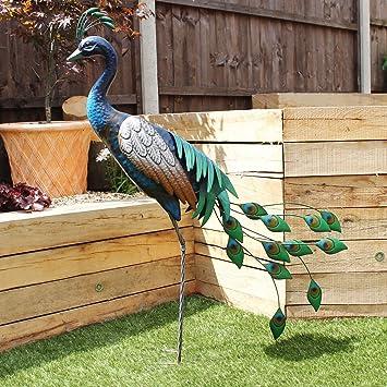 Metal Garden Peacock Sculpture Garden Bird Ornaments Brand New bird Ornament