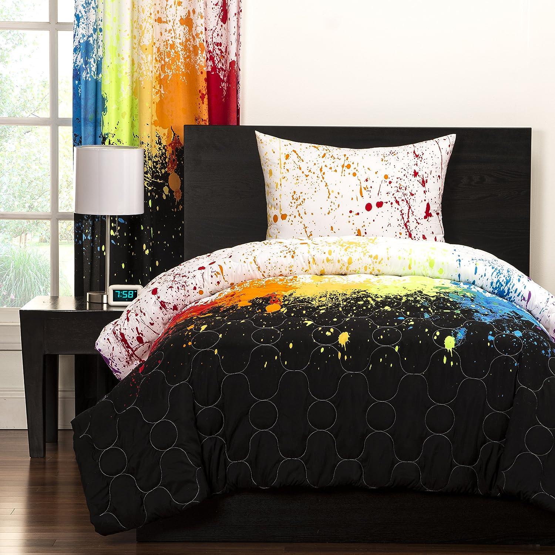 Amazoncom Colorful Comforter Set 2 Piece Twin