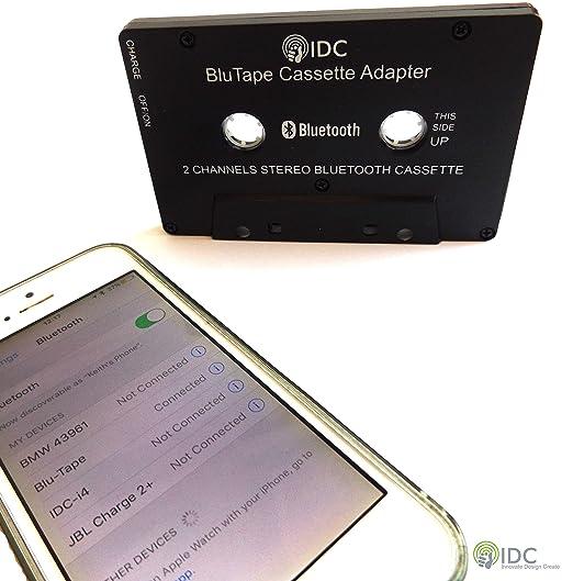 IDC © BluTape Bluetooth receptor coche / Van estéreo Cassette adaptador: Amazon.es: Electrónica