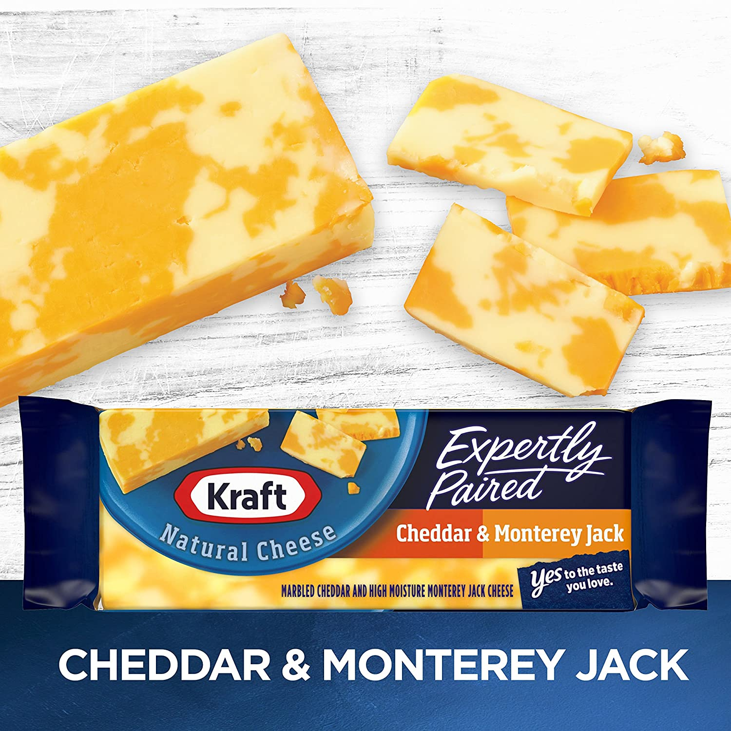 Kraft Expertly Paired Cheddar & Monterey Jack Marbled Cheese Block