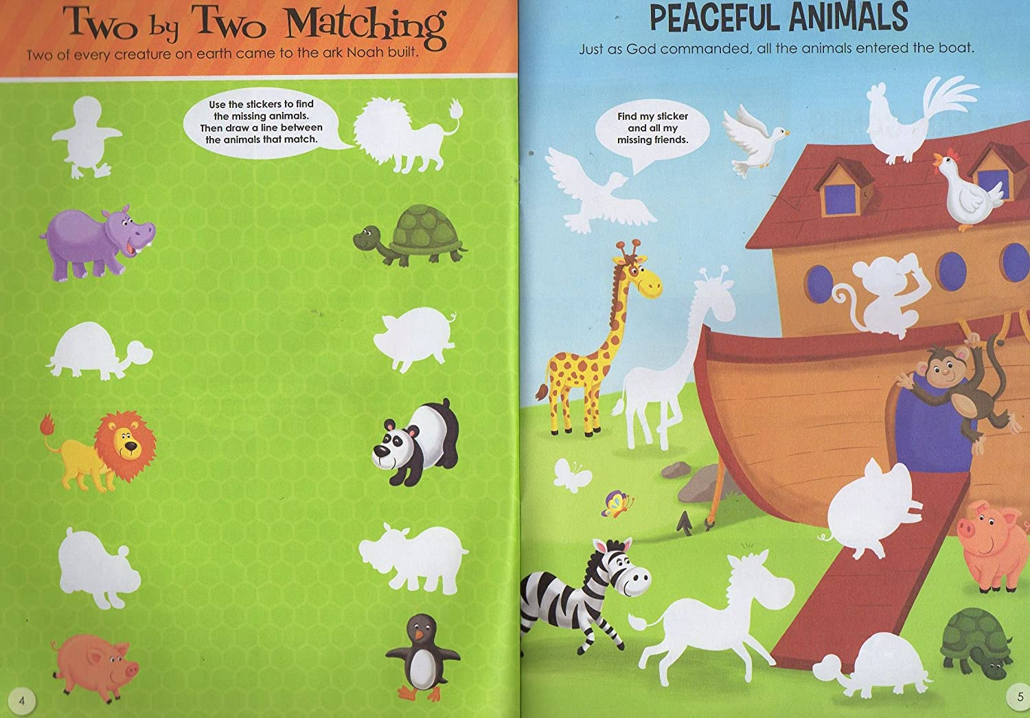 Big Book of Stickers Activity Book Includes Over 80 Stickers The Clever Factory The Story of Noah