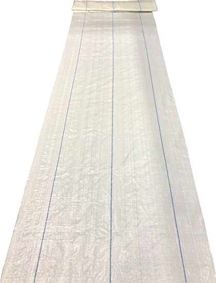 Bluefire Direct White Landscape Fabric Commercial Grade Woven Polyethylene Ground Cover 3 ft x 300 ft Weed & Moss Control