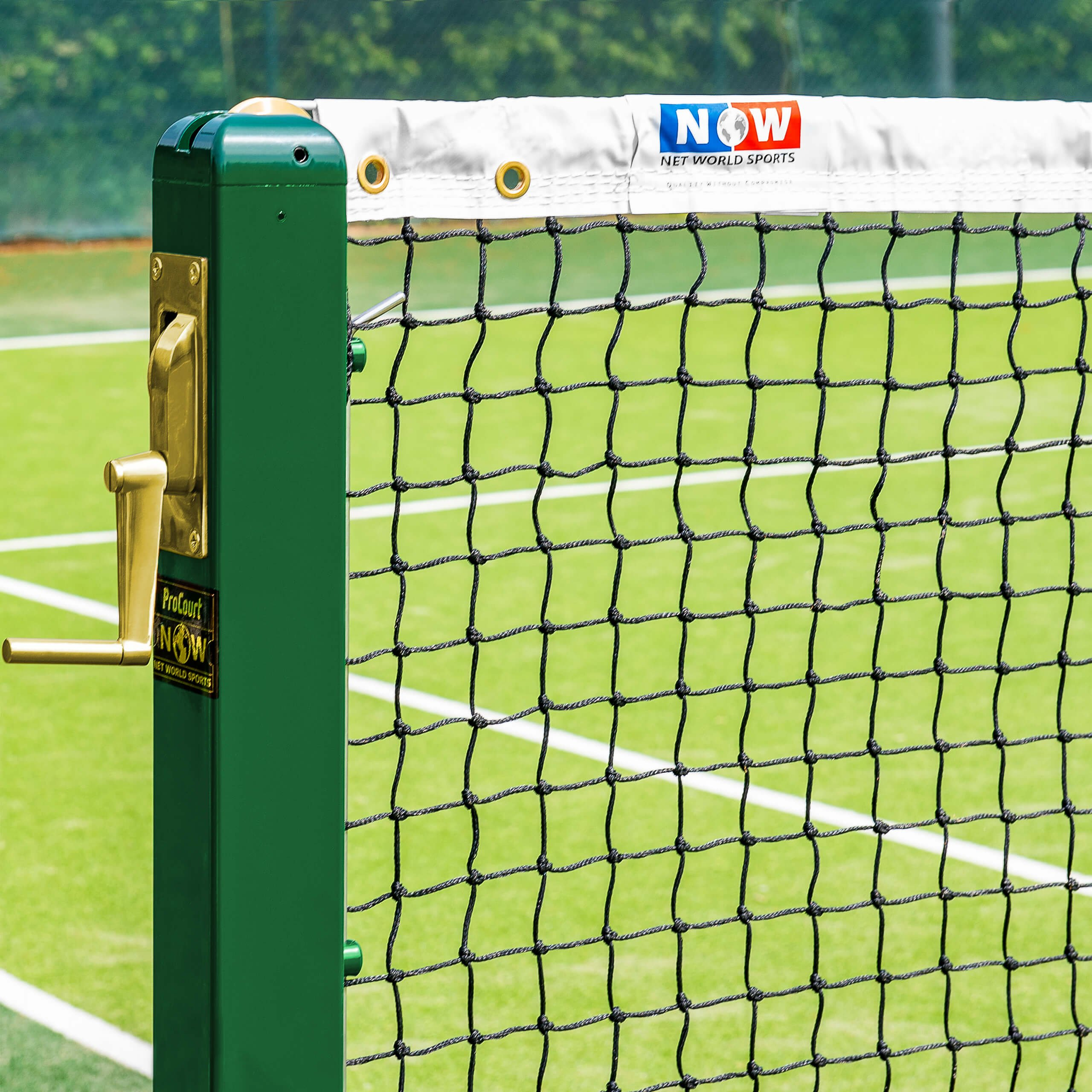 Vermont 3mm Tennis Net (14lb) | Championship Quality | Overlocked Edges | 3mm Braided HDPE Twine | 42ft Regulation Doubles | Headline Wire Included | ITF Regulation Tennis Net