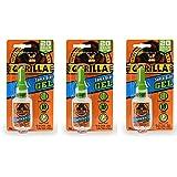 Gorilla 7700108 20 Gram 3-Pack Super Glue Gel, Clear