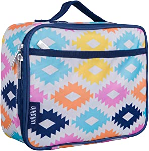 Wildkin Kids Insulated Lunch Box for Boys and Girls, Perfect Size for Packing Hot or Cold Snacks for School and Travel, Measures 9.75 x 7.5 x 3.25 Inches, Mom's Choice Award Winner (Aztec)