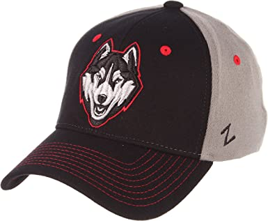 Gray//Team Color NCAA Zephyr Connecticut Huskies Mens Grid Hat X-Large