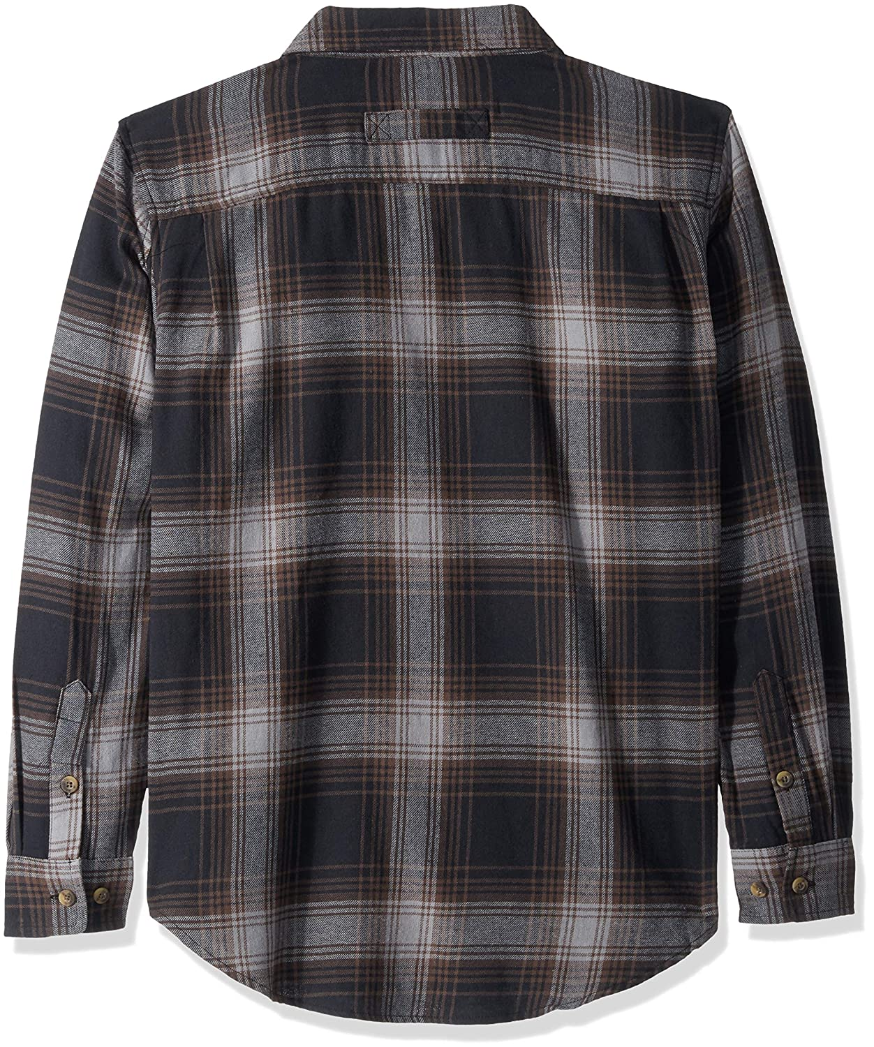 Smiths Workwear Mens Full-Swing Cotton Flannel Button-Down Shirt