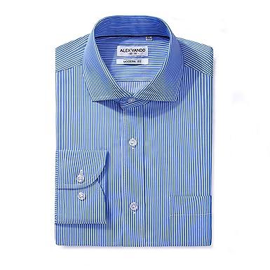 abc3f23473e Alex Vando Mens Dress Shirts Regular Fit Solid Color Shirt at Amazon ...