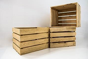 Set 3 Cajas Grandes Naturales Sam, Madera, Decoración,Almacenamiento, Beige, 50x40x30cm. Incluye Imán Personalizable de Regalo. ...: Amazon.es: Hogar