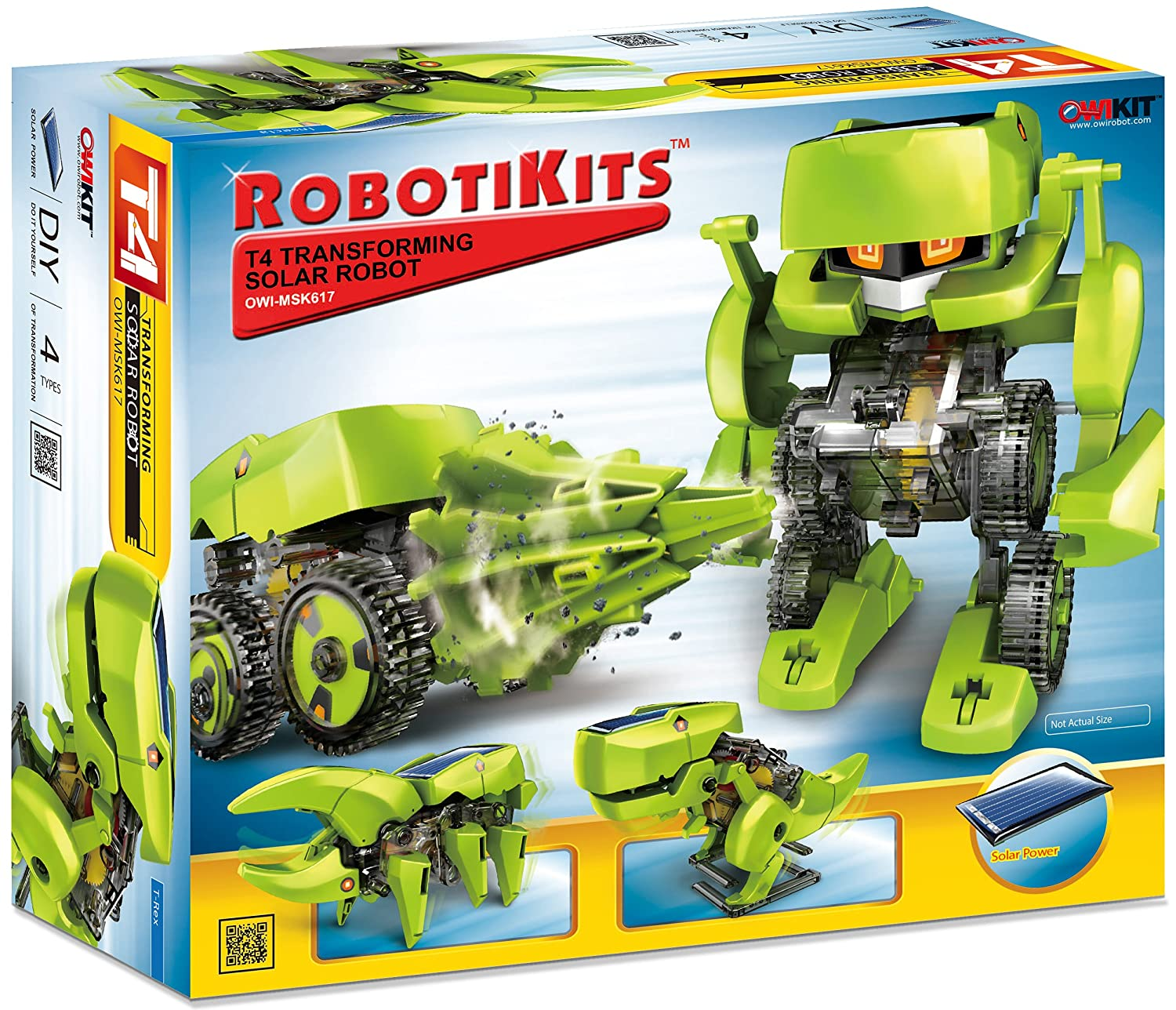 Amazon OWI T4 Transforming Solar Robot Toys & Games