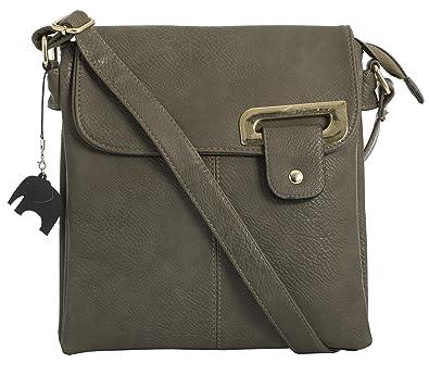 Big Handbag Shop Womens Medium Trendy Messenger Cross Body Shoulder Bag  With a Branded Protective Storage 7369afb89a