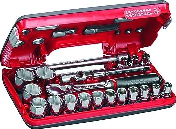 USAG U06090022 - Pack de 21 piezas surtido de llaves de vaso hexagonales en caja bimaterial: Amazon.es: Bricolaje y herramientas