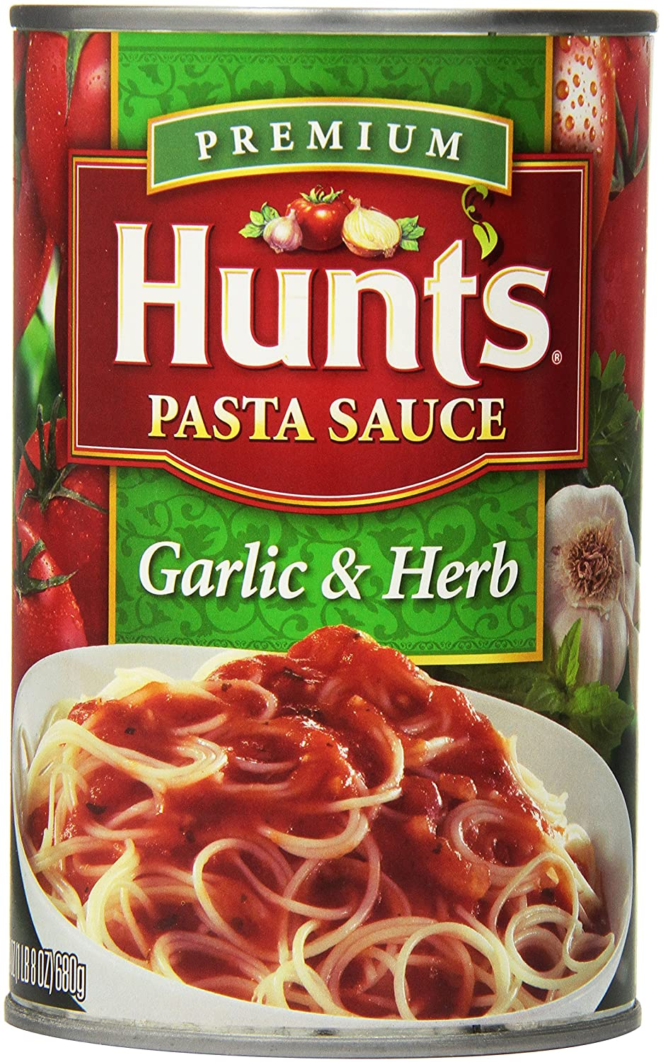 Hunt's Garlic & Herb Pasta Sauce, 24 Oz. (Pack of 12)