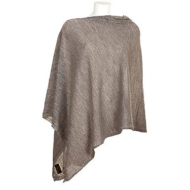 9cb6911f5fe7fe VialeScarpe Damen Poncho Grau grau One size: Amazon.de: Bekleidung