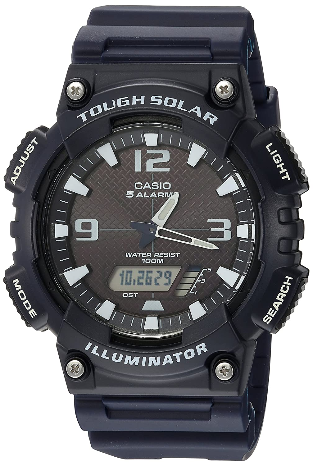 Casio Men s AQ-S810W-2A2VCF Tough Solar Analog-Digital Display Dark Blue Watch