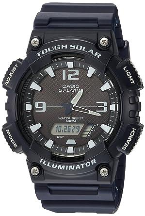 8050e784d Casio Men's AQ-S810W-2A2VCF Tough Solar Analog-Digital Display Dark Blue  Watch