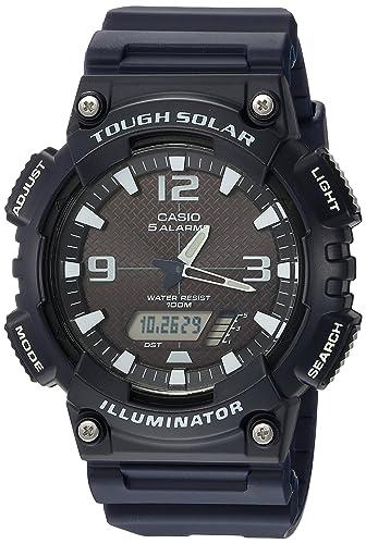 Casio Mens AQ-S810W-2A2VCF Tough Solar Analog-Digital Display Dark Blue Watch
