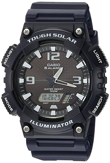 Casio AQS810W-2A2V - Reloj (Pulsera, Masculino, Resina, Solar, 5