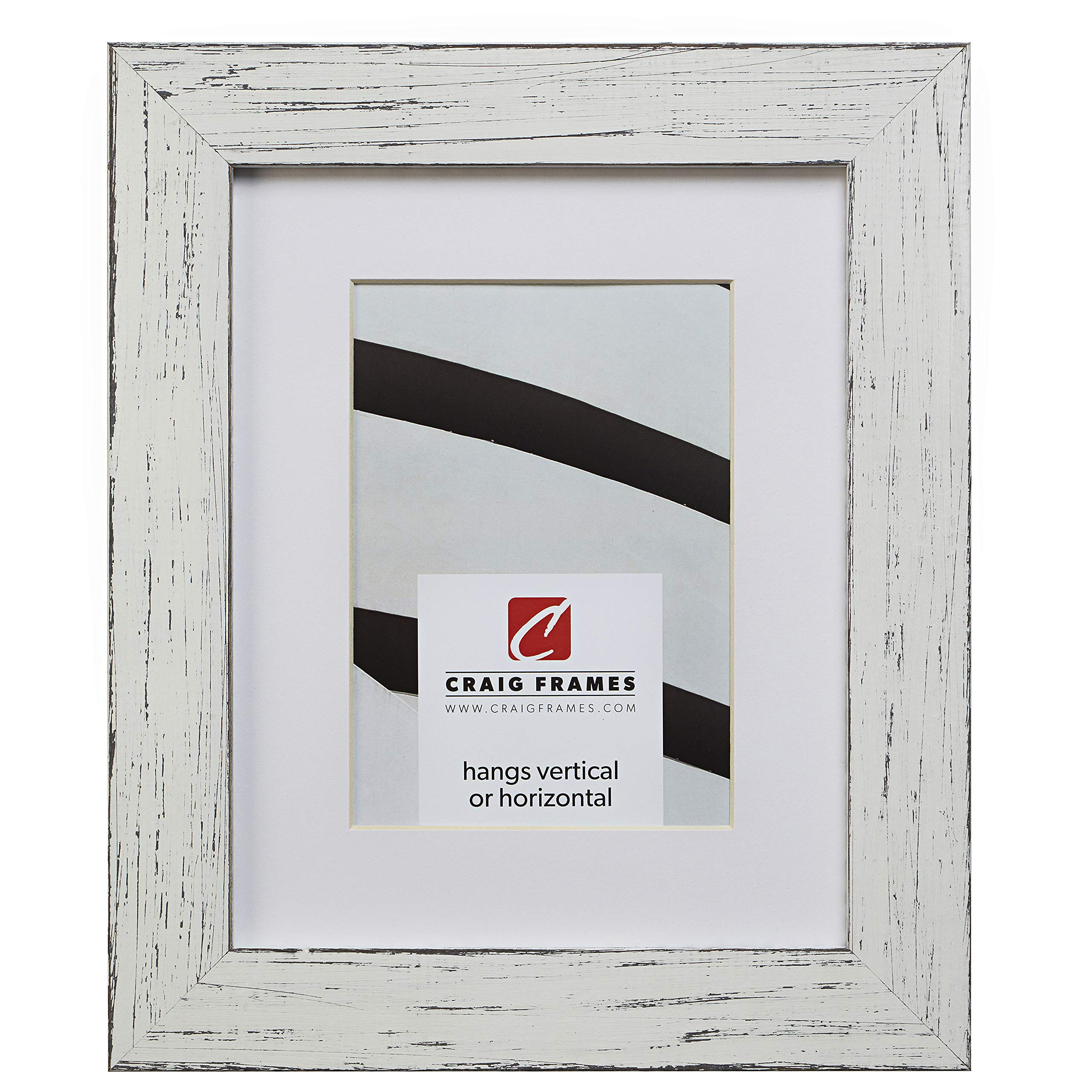 Craig Frames Jasper, 20 x 24 Inch Country Marshmallow White Picture Frame Matted to Display a 16 x 20 Inch Photo by Craig Frames