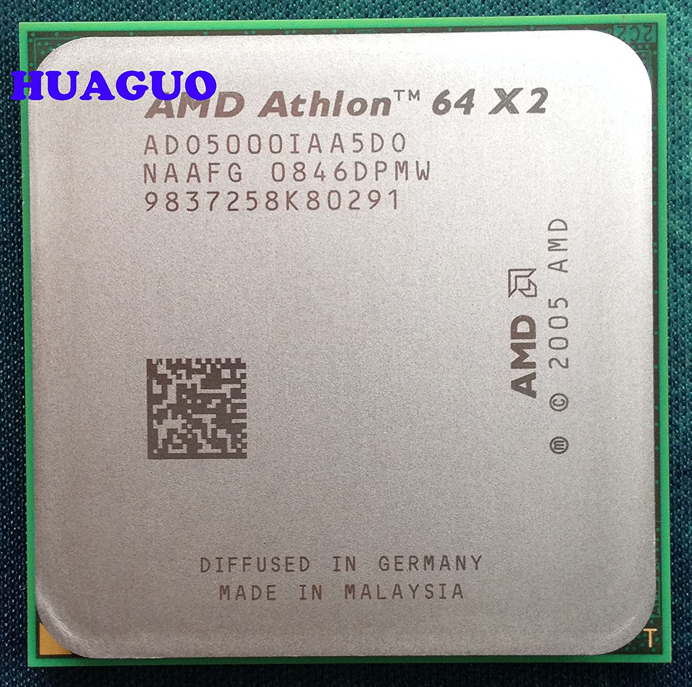Amazon Com Amd Athlon 64 X2 Dual Core 5000 2 6 Ghz Processor With 1024kb L2 Cache And 64 Watt Socket Am2 Ado5000dswof Electronics