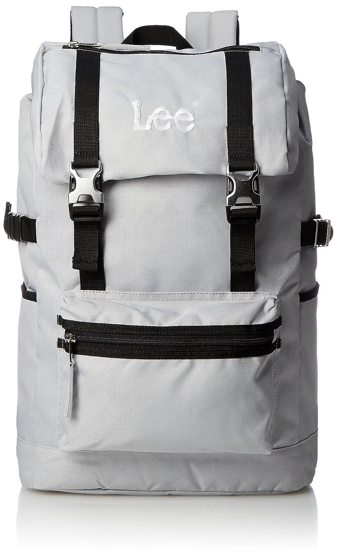 [リー] リュック 軽量 Leeロゴ刺繍 フラップ型 320-4800 B077CZPCMC グレーボディ×ブラック グレーボディ×ブラック