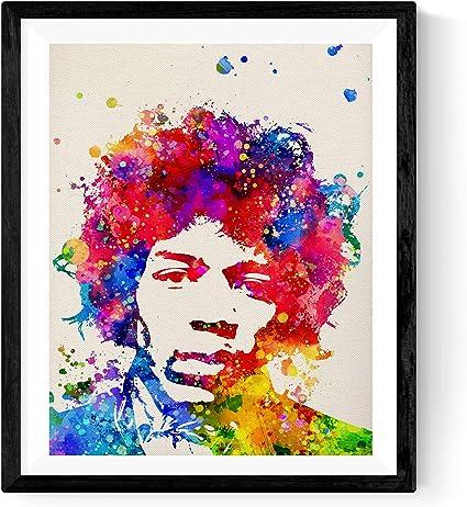 Lámina Decorativa Rockera para enmarcar Jimi Hendrix