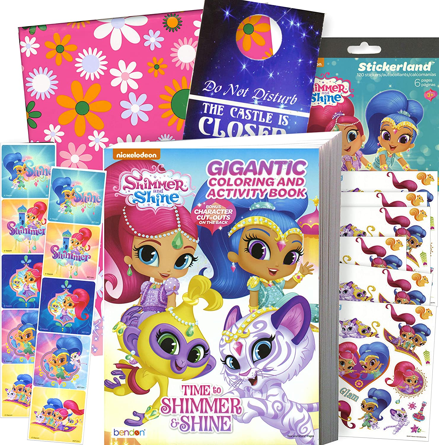 Amazon.com: Shimmer And Shine Coloring Book Stickers Gift Set