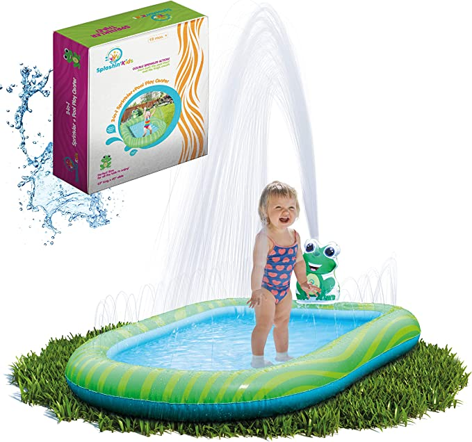 Splashin Kids 3 In 1 Inflatable Sprinkler Pool For Kids Baby Pool Kiddie Pool Toddlers Wading Swimming Water Outdoor Toys Babies Boys Girls Small Small And Large Size Kitchen Dining
