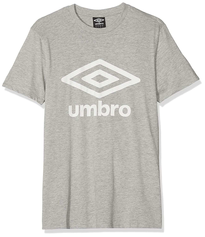 UMBRO Fw Logo Cotton tee Camiseta, Gris (Grey Marl 263), Large ...