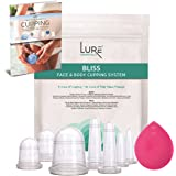 Lure BLISS Face Cupping and Anti Cellulite Cups for Professional and Home Use Massage Cupping Therapy Set with Cupping Book (PDF) - Fascia and Cellulite Blaster