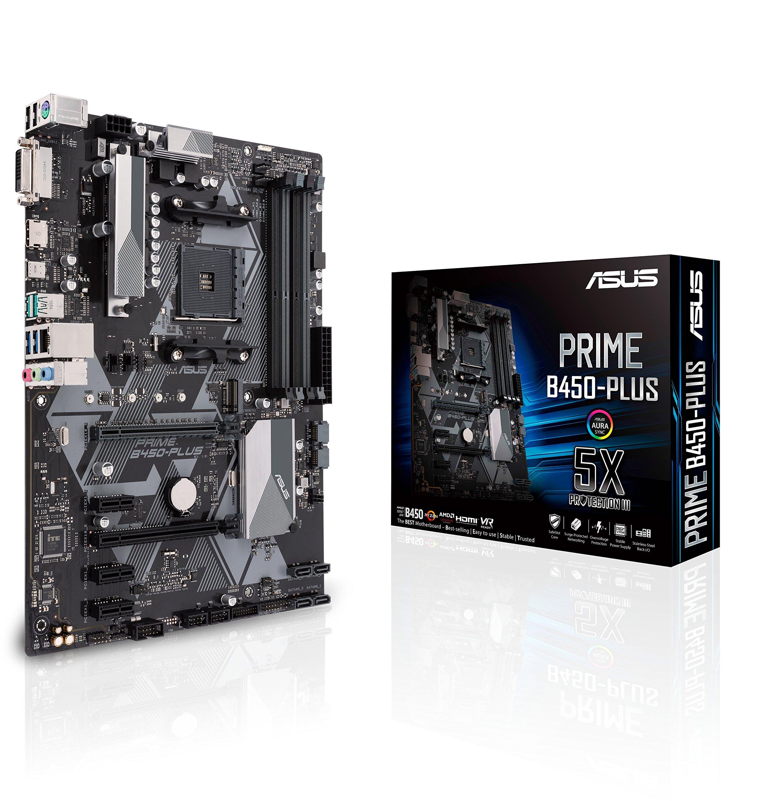 Asus B450 Amd Ryzen 2 Atx Gaming Motherboard Am4 Ddr4 Hdm...