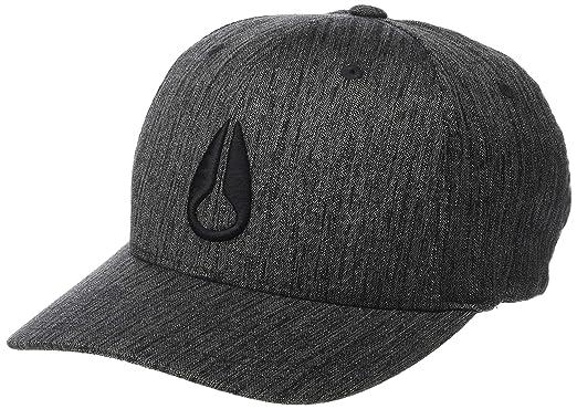 premium selection cec2c 40590 NIXON Men s Deep Down Athletic Textured Hat, Black Woven, Small Medium