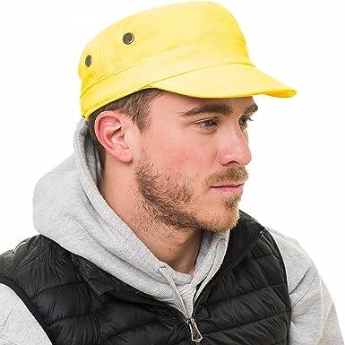 Gorra Gorro Respirable Ligera de Moda para Hombre Anti UV Proteccion Solar Sol (Amarillo): Amazon.es: Ropa y accesorios