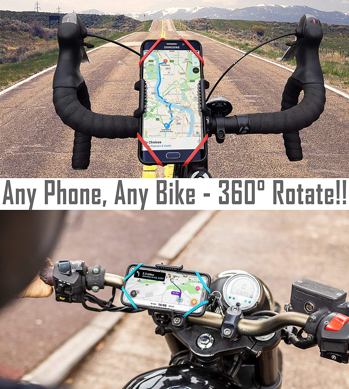 Mountain Bike Zwini Bike Phone Holder Universal Cycling GPS Unit Holder Bike Phone Mount for Bicycle Motorbike 2.16-3.74 inch Black