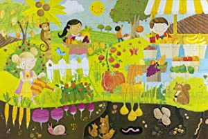 Educational Fruits and Vegetables 48-Piece Children's Floor Puzzle