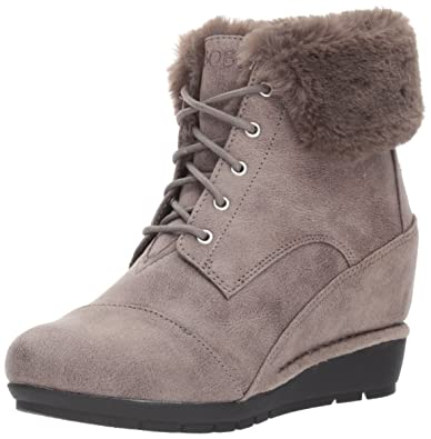 2eafd2a6a761 Skechers BOBS Women s High Peaks-Flurry Dust Ankle Boot Charcoal 6.5 ...