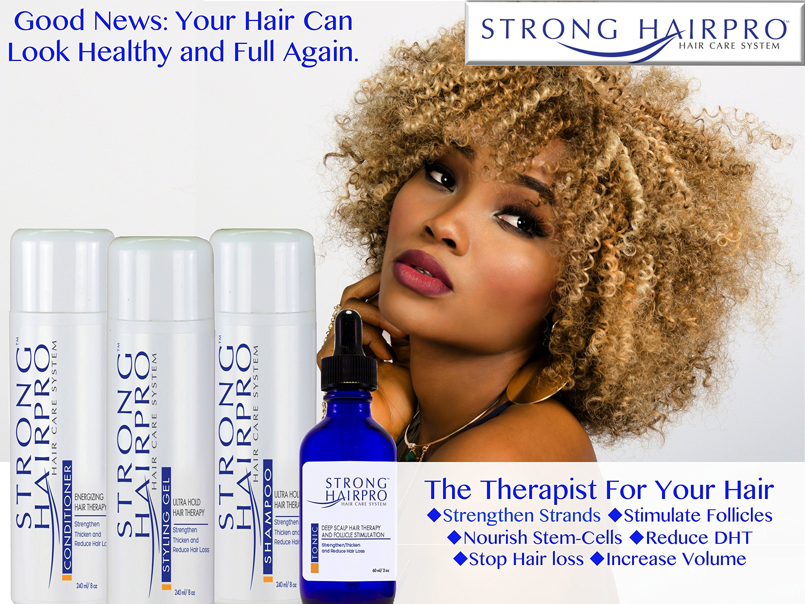 Strong HairPro New Hair Strengthening and Growth Stimulating Peptide Shampoo for Hair Loss Prevention with Caffeine, 8 Fluid Ounce by Strong HairPro (Image #9)