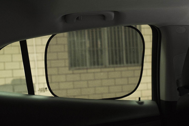 bohmain Lot de 2/pare-soleil voiture pour b/éb/é et enfant Protection solaire pour si/ège auto Sun Block Protection UV via fen/être lat/érale avec ventouses//Noir