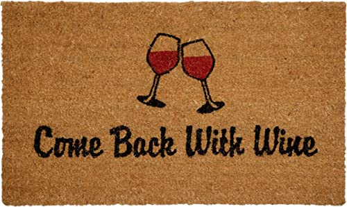 QRRI IM180-18X30BACKWITHWINE Come Back with Wine Coir Mat, Multi-Colored