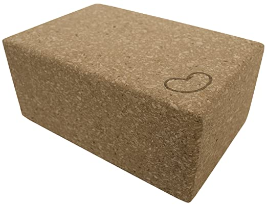 (1 - 4x6x9) - Cork Yoga Blocks 10cm x 15cm x 23cm , 7.6cm x 15cm x 23cm Single or 2 block saver pack by Bean Products