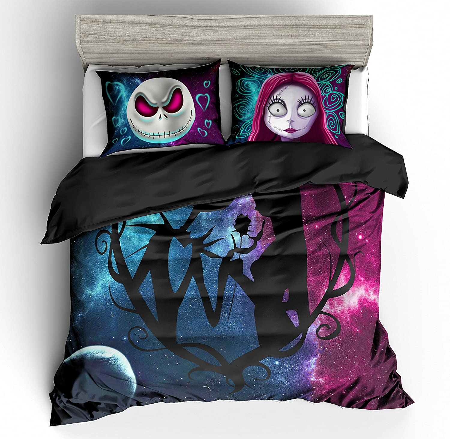 Amazon.com: KTLRR 3D Nightmare Before Christmas Duvet Cover Sets ...