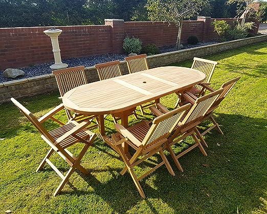 Tavolo Da Giardino Pieghevole E Allungabile.Chelsea Home And Leisure Ltd Teak Allungabile Da Tavolo Con Sedie
