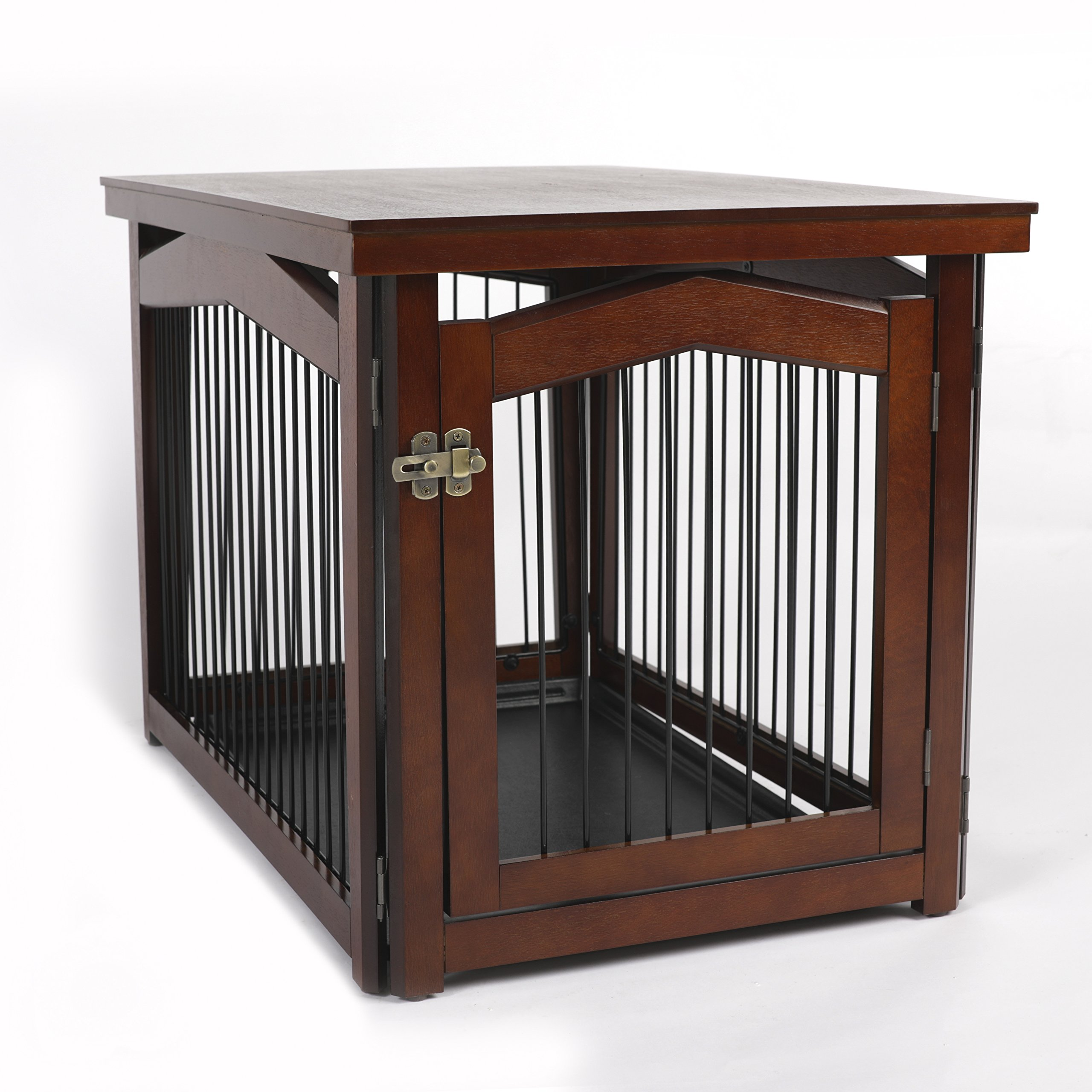 Merry Pet 2-in-1 Configurable Pet Crate and Gate, Brown, Large by Merry Pet