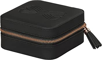Ted Baker Jewelry Case with Gold Tassel Zipper Black Travel and Storage,
